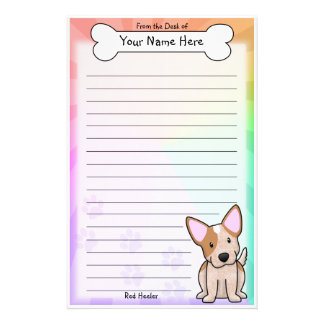 Kawaii Red Heeler Stationery