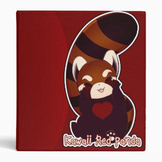 Kawaii Red Panda Binder