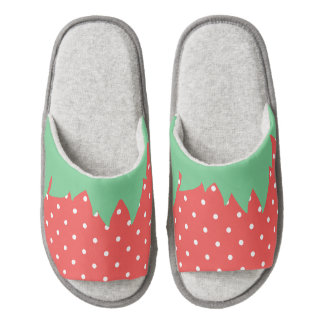 Kawaii Red Strawberry Slippers Pair Of Open Toe Slippers