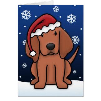Kawaii Redbone Coonhound Christmas Card