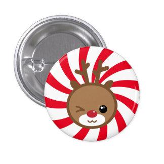 Kawaii Reindeer Button