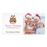 Kawaii Reindeer Christmas Photo Cards
