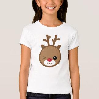 Kawaii Reindeer Girl's Shirt