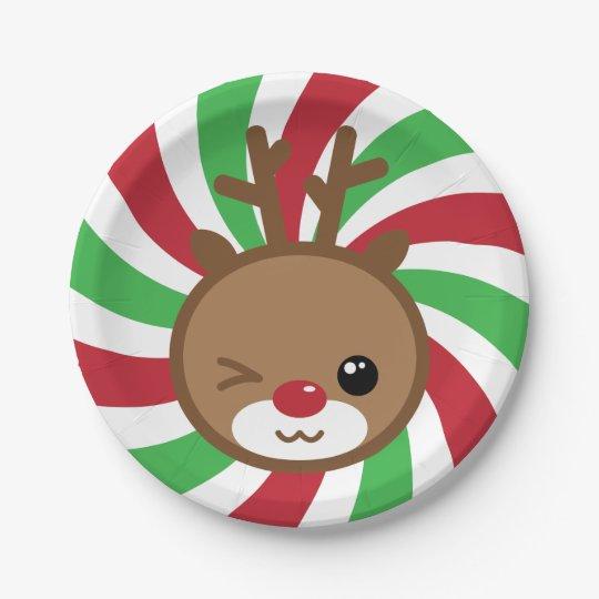 Kawaii Reindeer Paper Plates  sc 1 st  Zazzle & Kawaii Reindeer Paper Plates | Zazzle.com