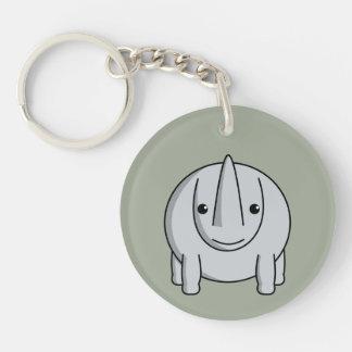 Kawaii Rhino Keychain