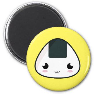 Kawaii Rice ball 2 Inch Round Magnet