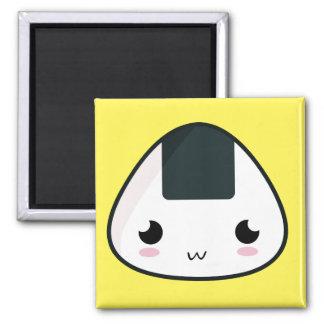 Kawaii Rice ball 2 Inch Square Magnet