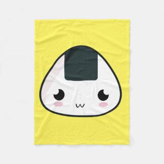 Kawaii Rice ball Fleece Blanket