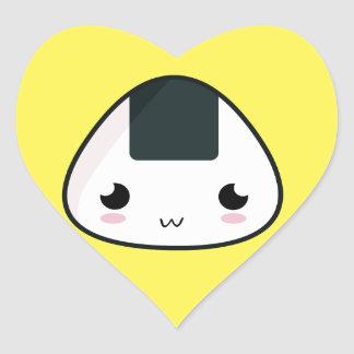Kawaii Rice ball Heart Sticker