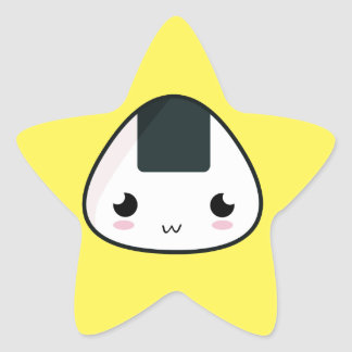 Kawaii Rice ball Star Sticker
