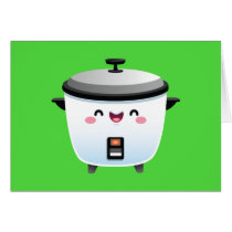 Kawaii Rice Cooker Card