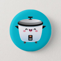 Kawaii Rice Cooker Pinback Button