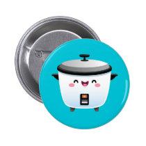 Kawaii Rice Cooker Pinback Button