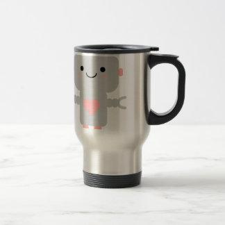 Kawaii Robot Cartoon Travel Mug