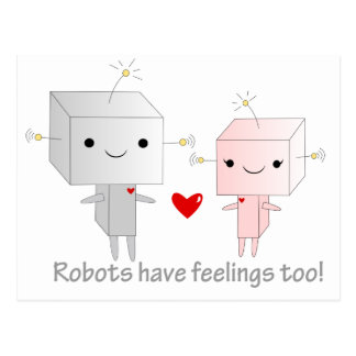 Kawaii Robots Postcard