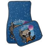 Kawaii Rocket Raccoon In Space Car Mat