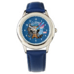 Kawaii Rocket Raccoon In Space Wrist Watch