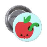 Kawaii Rotten Apple Button