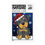 Kawaii Rottweiler Christmas Stamps