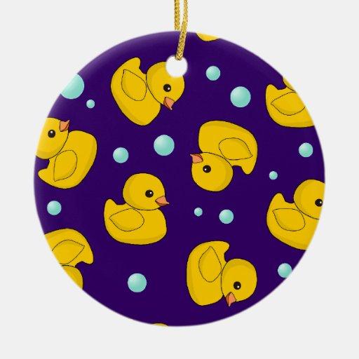 Kawaii Rubber Duckies Christmas Tree Ornaments