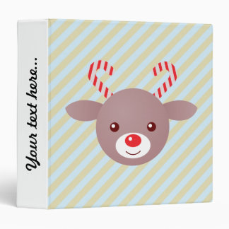 Kawaii Rudolph 3 Ring Binder