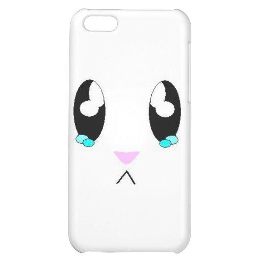 Kawaii Sad Bunny Face iPhone 5C Cover