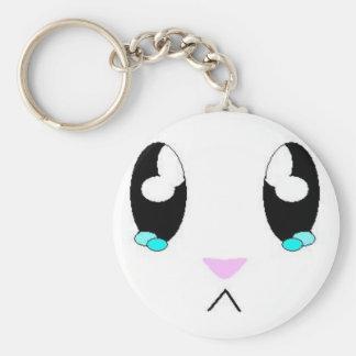 Kawaii Sad Bunny Face Key Chains