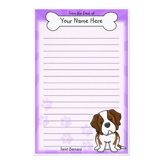Kawaii Saint Bernard Stationery