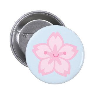 Kawaii Sakura Cherry Blossom Flower Pinback Button