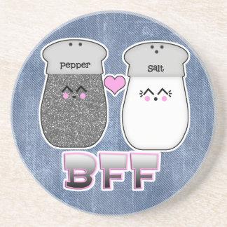 Kawaii Salt n Pepper BFF Beverage Coaster