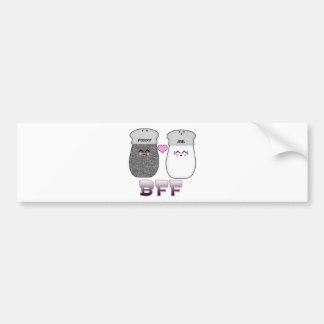 Kawaii Salt n Pepper BFF Bumper Sticker