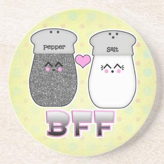 Kawaii Salt n Pepper BFF Coasters