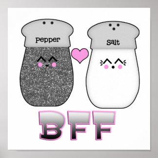 Kawaii Salt n Pepper BFF Posters