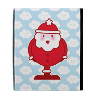 Kawaii Santa iPad Folio Covers