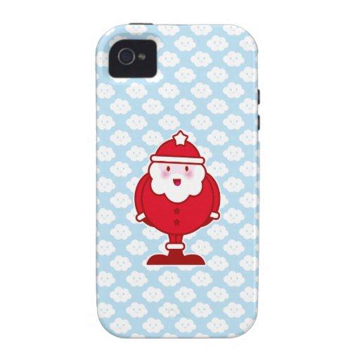Kawaii Santa Case-Mate iPhone 4 Carcasa