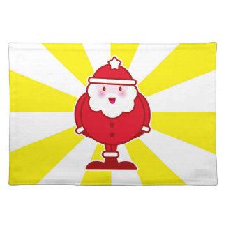 Kawaii Santa Cloth Placemat