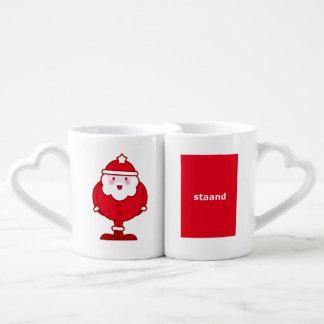 Kawaii Santa Coffee Mug Set