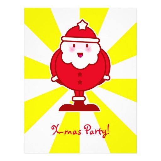 Kawaii Santa Flyer A Todo Color