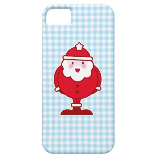 Kawaii Santa Funda Para iPhone 5 Barely There