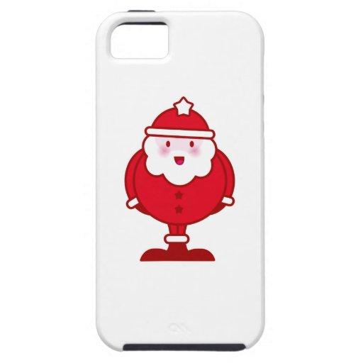 Kawaii Santa Funda Para iPhone 5 Tough