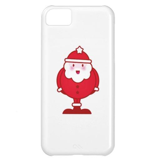 Kawaii Santa Funda Para iPhone 5C
