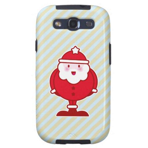 Kawaii Santa Galaxy S3 Carcasas