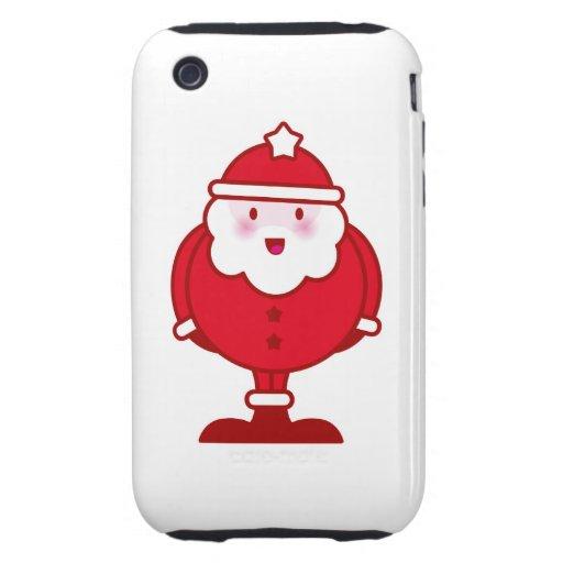 Kawaii Santa iPhone 3 Tough Coberturas