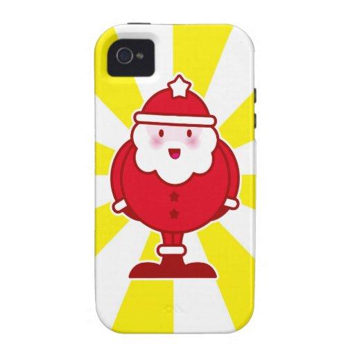 Kawaii Santa iPhone 4/4S Fundas