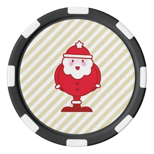 Kawaii Santa Juego De Fichas De Póquer