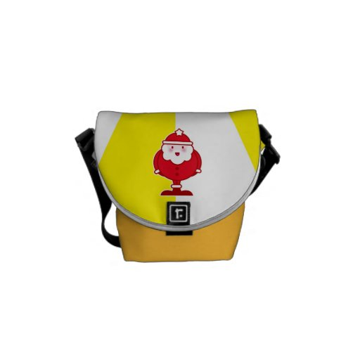 Kawaii Santa Messenger Bags