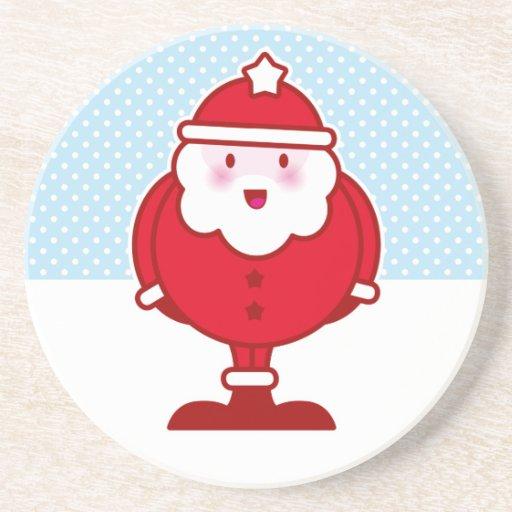 Kawaii Santa Posavasos Personalizados