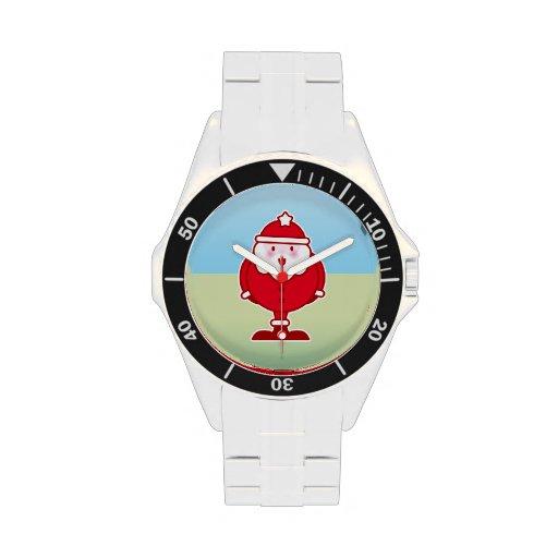 Kawaii Santa Relojes De Mano