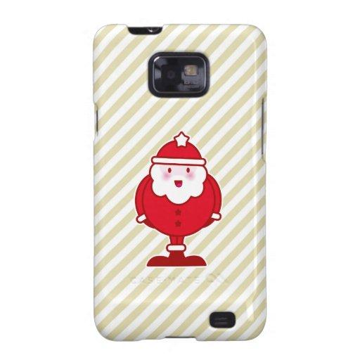 Kawaii Santa Samsung Galaxy S2 Carcasas