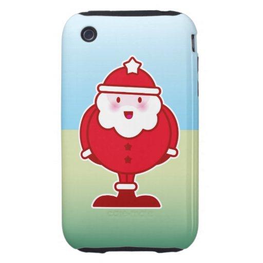 Kawaii Santa Tough iPhone 3 Carcasa